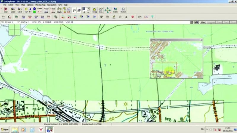 Видео 1 Настройка программы OziExplorer и загрузка карт.