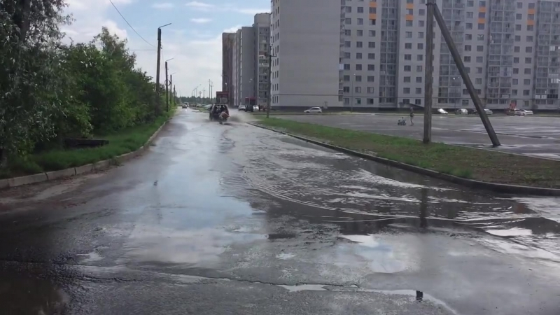 Новгородский серфинг возле гидража ЖК заречный