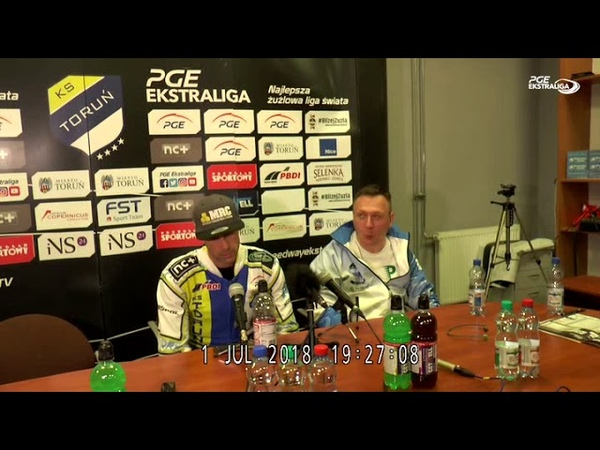 PGE Ekstralga Get Well Toruń - Falubaz Zielona Góra - konferencja prasowa