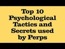 Targeted Individuals 2018 Top 10 Perp Tactics Gang Organized Stalking Psychological Secrets