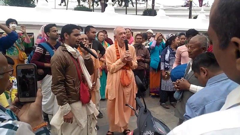BVV Narasimha Swami, About maha-mantra, Harinam, Nepal 29.03.2018