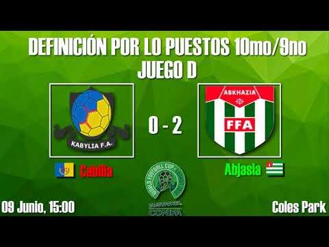 Definición entre los puestos 16vo/3ero (Resultados) - Copa Mundial de Fútbol de ConIFA Barawa 2018