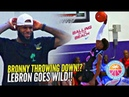 BRONNY JAMES JR 1st IN GAME DUNK!? Gets LeBron OUT OF HIS SEAT & Crowd GOES CRAZY!?
