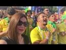 Гимн Бразилии перед матчем Бразилия vs Мексика Я себяпрям бразильянкой ощутила