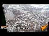 Подтопленные села в Восточном Казахстане с высоты птичьего полета