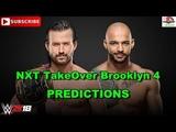 NXT TakeOver Brooklyn 4 NXT North American Championship Adam Cole vs. Ricochet Predictions WWE 2K18