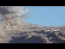 Попадание ПТУР хуситов в Т-55 армии Хади. Район Нихм.