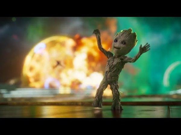 Стражи Галактики 2 Начало. Танец Малыша Грута. Вступительная Битва.