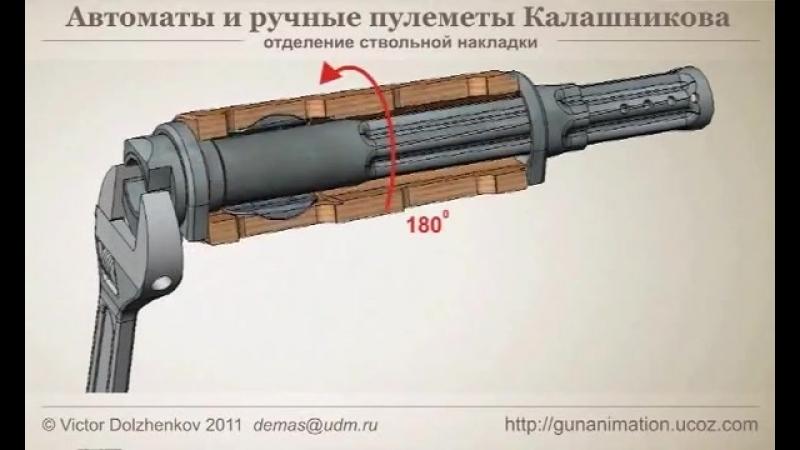 Как снять ствольную накладку АК 47 АКМ АК74