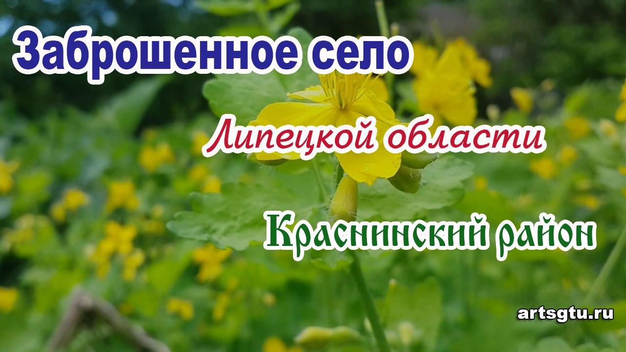 Заброшенные деревни Липецкой области: Краснинский район