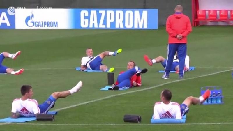 Впереди сложнейший матч. Сборная России тренируется перед игрой с Уругваем
