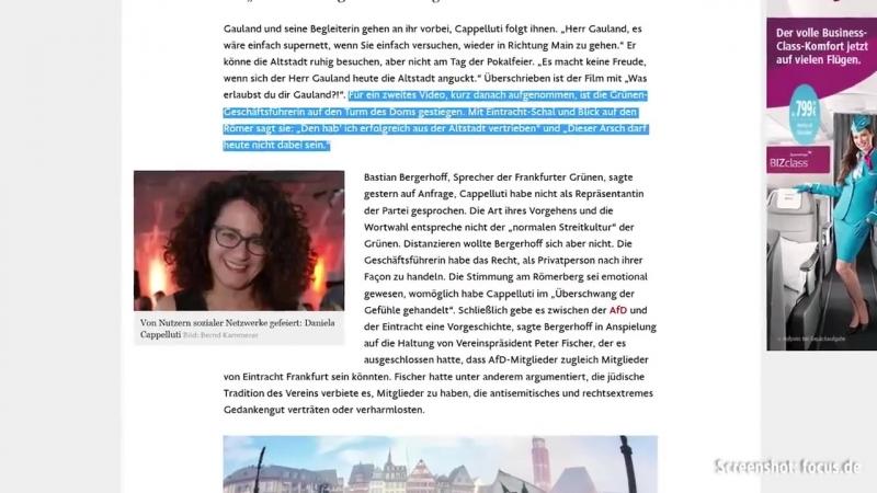 """""""Armes Deutschland""""- Grünen-Politikerin fordert Gauland auf- Frankfurter Altstadt zu verlassen"""