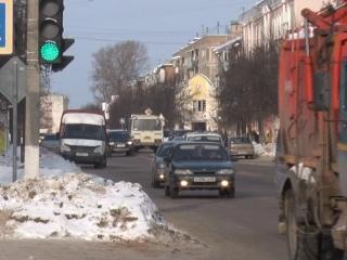 Движение автотранспорта на перекрёстке Бехтерева - Ленина