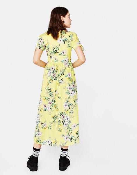 Длинное платье с цветами