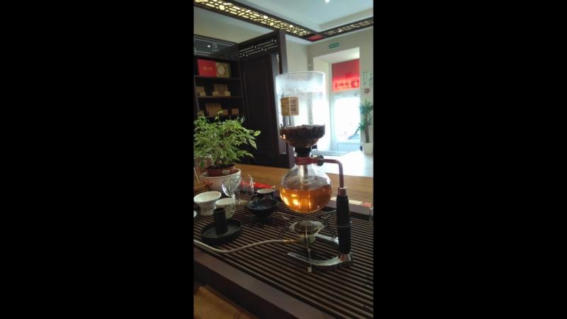 Выдержанный чай в сифоне. Красиво и вкусно😊