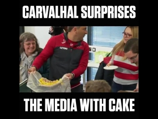 Carlos Carvalhal knows how to keep the local media sweet.