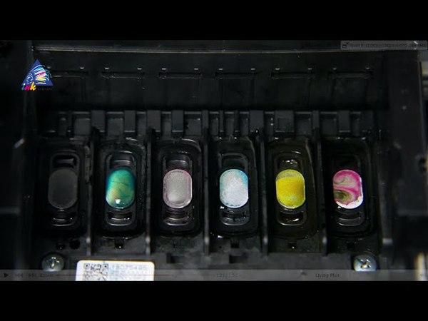 Промывка печатающей головки на примере Epson EP-706A