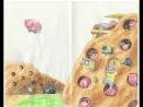 Процесс рисования подмосковной деревни Свинорье