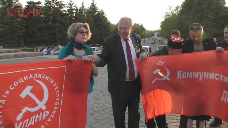 Борис Литвинов встретил антифашистский караван из европы и группу Банда Бассоти
