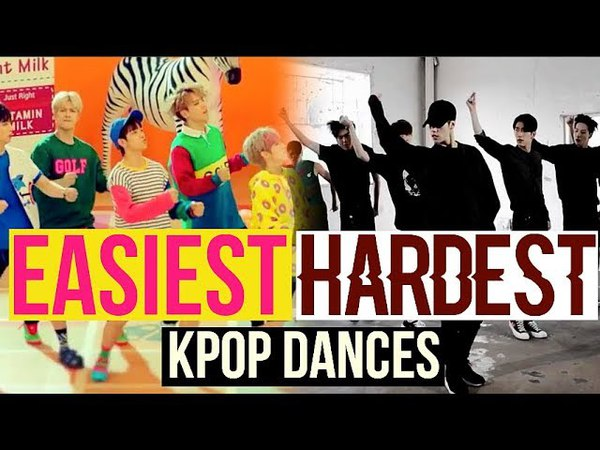 EASIEST VS HARDEST KPOP DANCES (BTS, EXO, TWICE, RED VELVET, NCT127 AND MORE...)