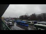 Выхино. 30 октября 2017 г. Тот случай, когда вместо метро запустили автобусы...