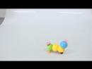 Игрушка музыкальная Гусеничка двигается световые и звуковые эффекты работает от батареек 616476