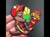 вышитые медведь Утюг на Нашивки для Костюмы детей Джинсы для женщин DIY Знак Ткань Наклейки аппликация Вышивка патч для одежды