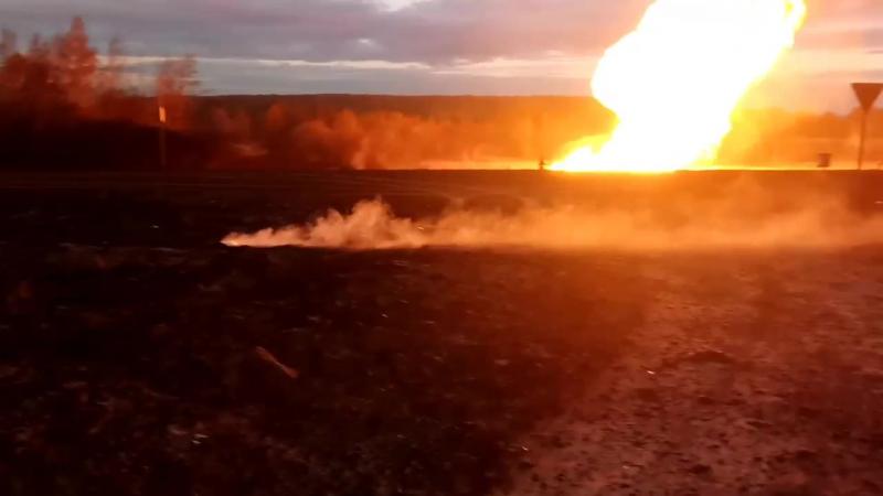 разрыв газопровода
