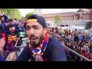 Пике заснял чемпионский парад «Барселоны»