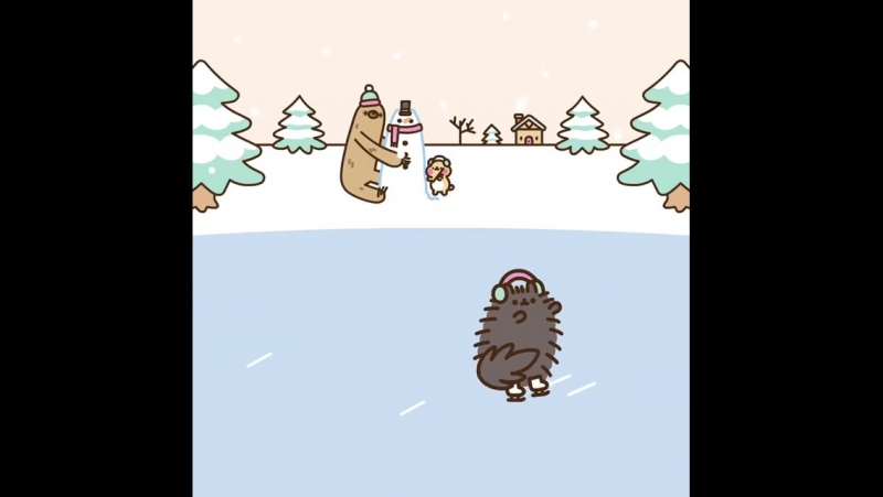 Pusheen the cat Ice rink