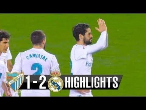 Malaga - Real Madrid 1-2 ~ Goals Highlights - Resumen (15 April 2018)