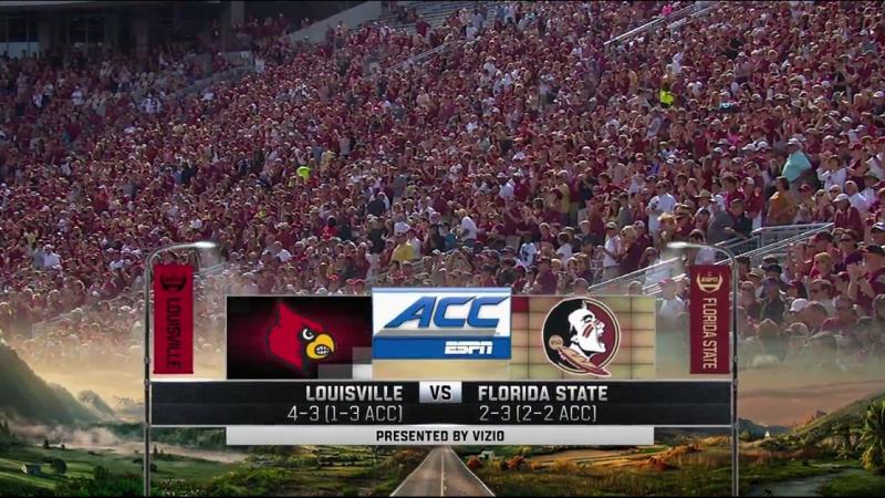 NCAAF 2017 / Week 08 / Louisville Cardinals - Florida State Seminoles / 2Н / EN