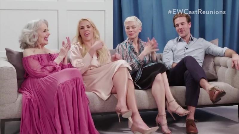 Актеры Бухты доусона пытаются вспомнить песню из заставки сериала. People, 2018