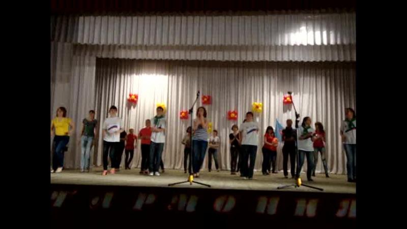 Гармония 2012 первый массовый танец в колледже