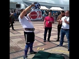 Михаил Ходяков (Украина), удержание груза перед собой - 25   кг 💪 Minsk Strong Battle - 2018 💪🇧🇾