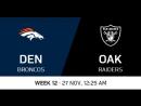 NFL 2017 / W12 / Denver Broncos - Oakland Raiders / CG / EN