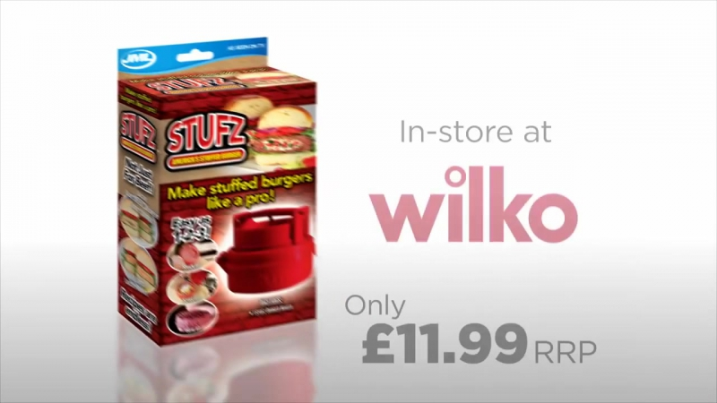 1000 мелочей!Stufz Burger Press now available at Wilko
