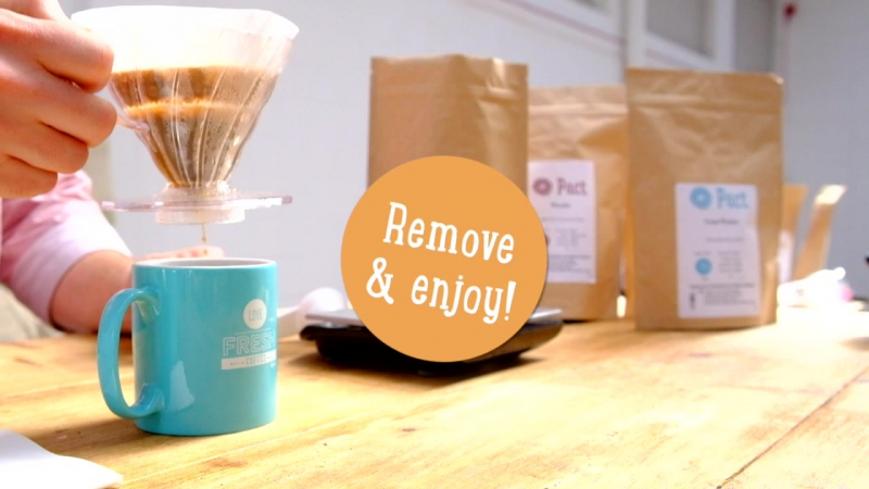 V60 Dripper Filter Cone Brew Guide Pact Coffee