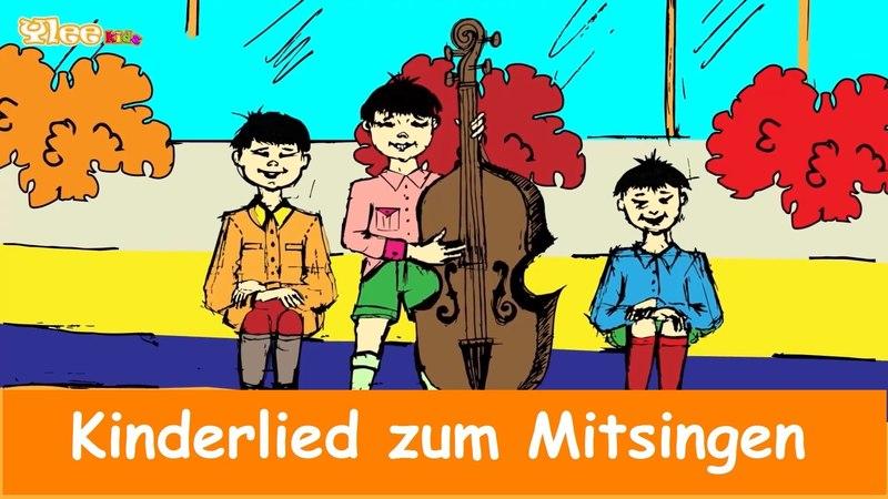 Drei Chinesen mit dem Kontrabass - Kinderlied mit Text am Bildschirm - Sing mit Yleekids