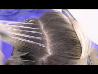 Градиент на волосах блонд. Градиентное окрашивание волос. ⁄⁄ Gradient hair dyeing