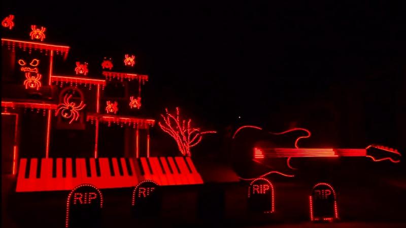 Фантастическое световое шоу к Хэллоуину