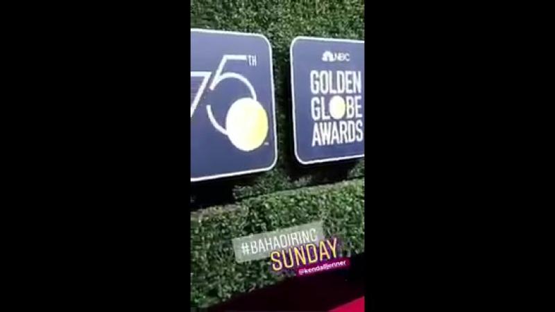 Кендалл на 75-й ежегодной кинопремии «Золотой Глобус», Беверли-Хиллз (07 января 2018)