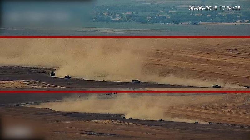 МО Арцаха опубликовало видеозапись передвижения азербайджанской военной техники вдоль границ НКР _12.06.2018