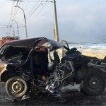 В Иркутске столкнулись Porsche Cayenne и Нива: двое погибли
