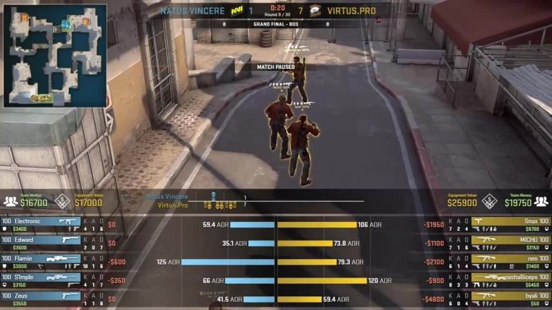 [CSRuHub] Na`Vi vs Virtus.pro - CS:GO Asia Championship - Grand final - map1 - de_dust2 [yXo, ceh9]