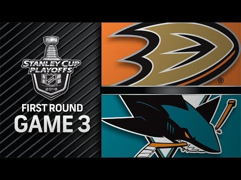 NHL 18 PS4. 2018 STANLEY CUP PLAYOFFS FIRST ROUND GAME 3 WEST: DUCKS VS SHARKS. 04.16.2018. (NBCSN) !