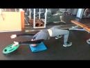 Тренировка шеи мост с отягощением