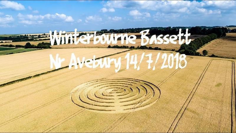 Crop Circle Winterbourne Bassett nr Avebury Reported 14/7/2018