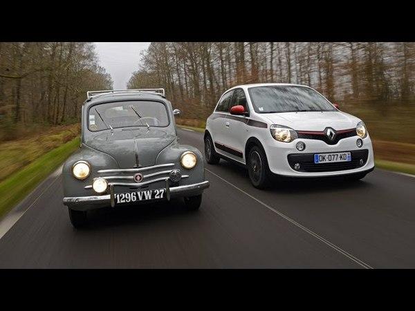 2015 Héritage Renault la 4 CV (1946) face à la Twingo (2014) - AutoMoto