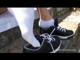 Зайка школьница в кедах и ароматных носочках Bunny in sneakers and fragrant socks HD